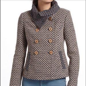 Anthropologie Tabitha Ottawa Wool Blend Coat Small